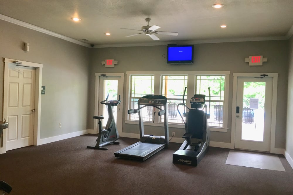 Fitness center at Villas at Lawson Creek in Boiling Springs, South Carolina