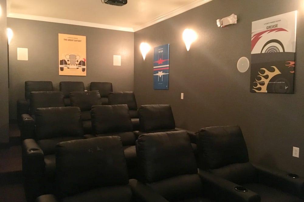 Theater seating at Villas at Lawson Creek in Boiling Springs, South Carolina