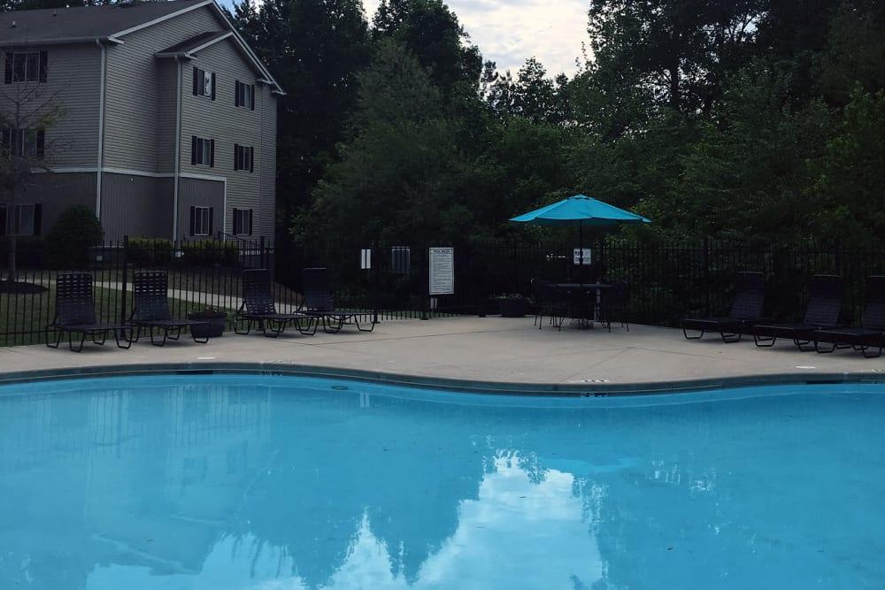 Sparkling pool at Villas at Lawson Creek in Boiling Springs, South Carolina