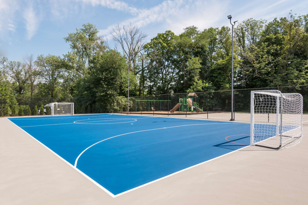 Basketball court at Park at Hurstbourne in Louisville, Kentucky