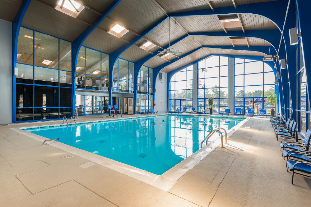 Indoor swimming pool at Park at Hurstbourne in Louisville, Kentucky