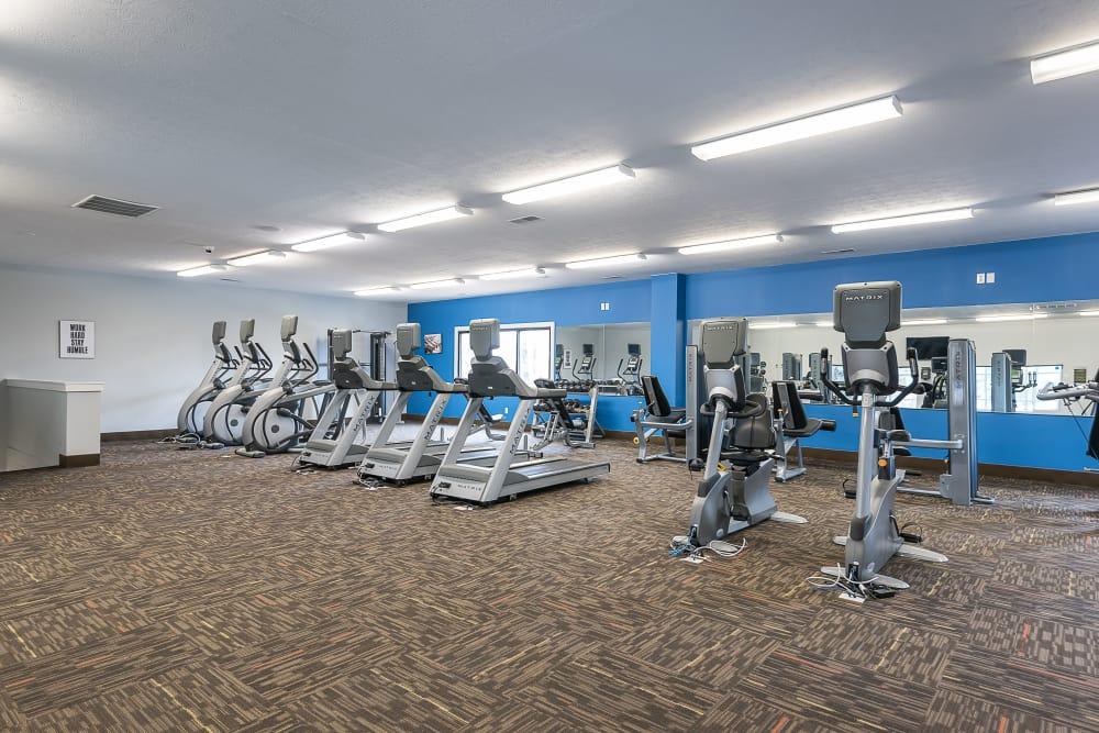 Modern fitness center at Park at Hurstbourne in Louisville, Kentucky