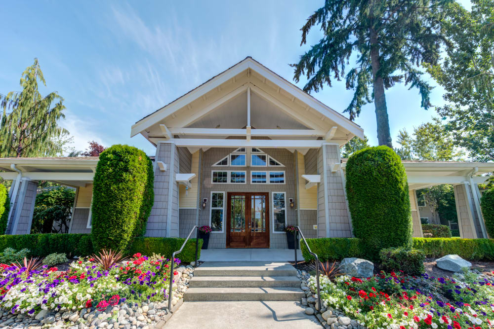 Leasing center at Bradley Park Apartments in Puyallup
