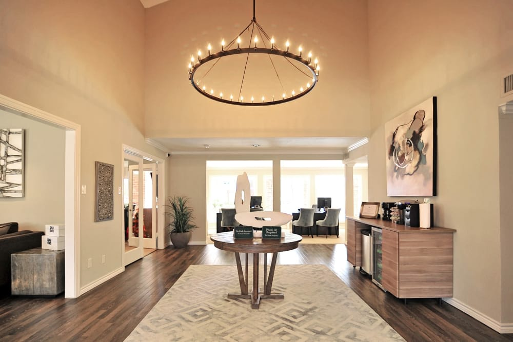 Our leasing office at Bayou Parc at Oak Forest in Houston, Texas
