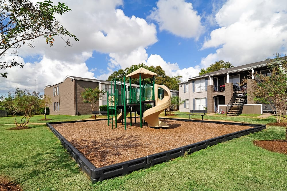 Playground at Bayou Parc at Oak Forest in Houston, Texas