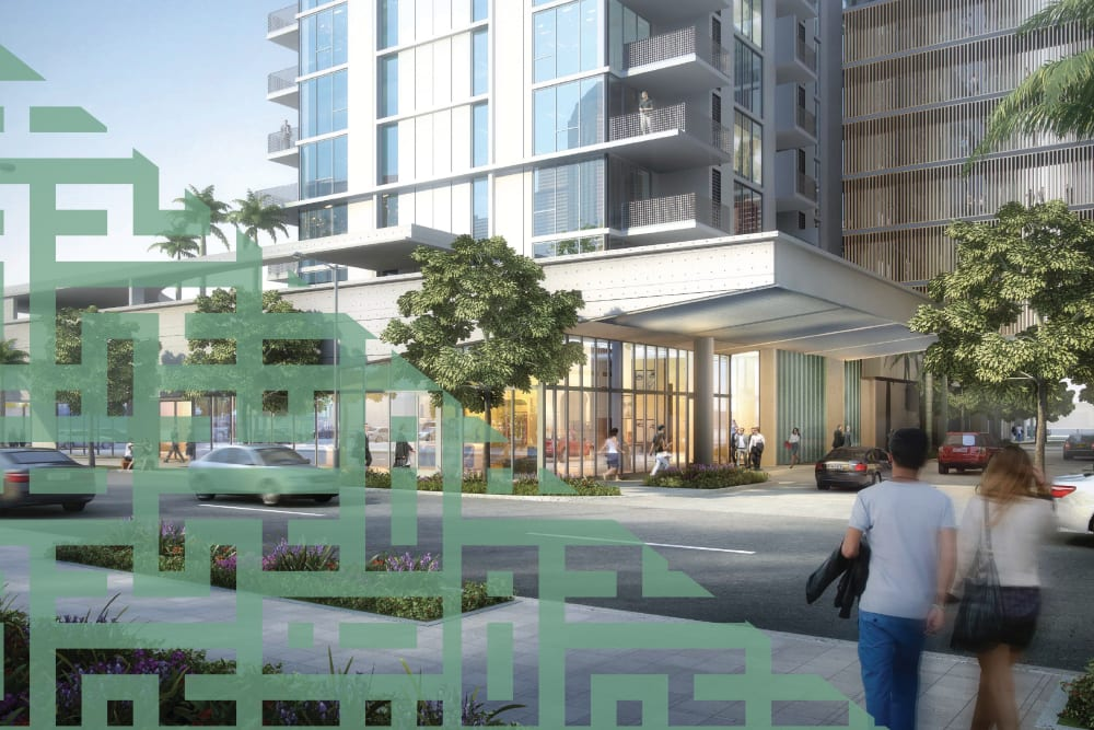 Exterior view of Yard 8 in Midtown Miami, FL