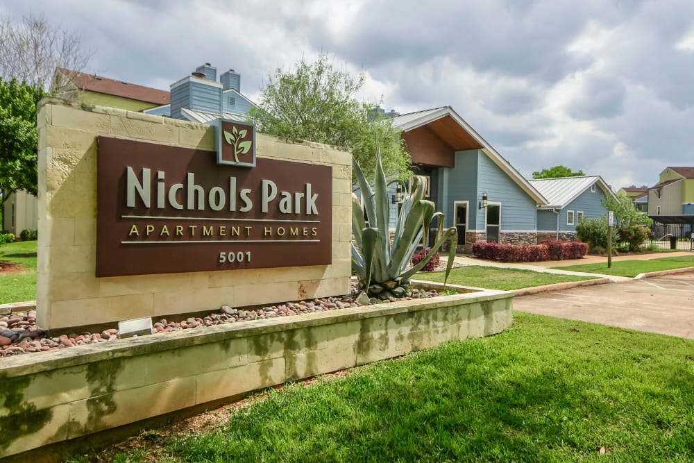 Entryway at Nichols Park in Austin, Texas