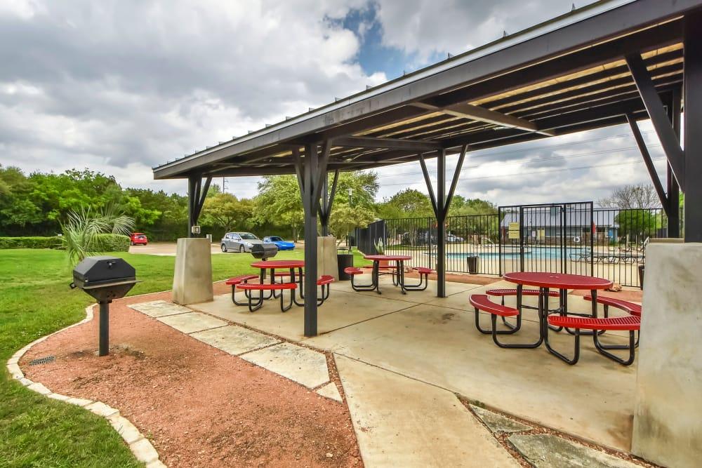 Pool area at Nichols Park in Austin, Texas