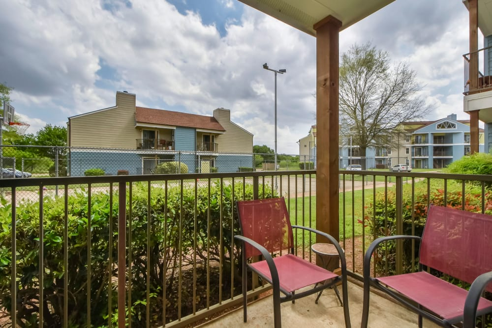 Private patio at Nichols Park in Austin, Texas