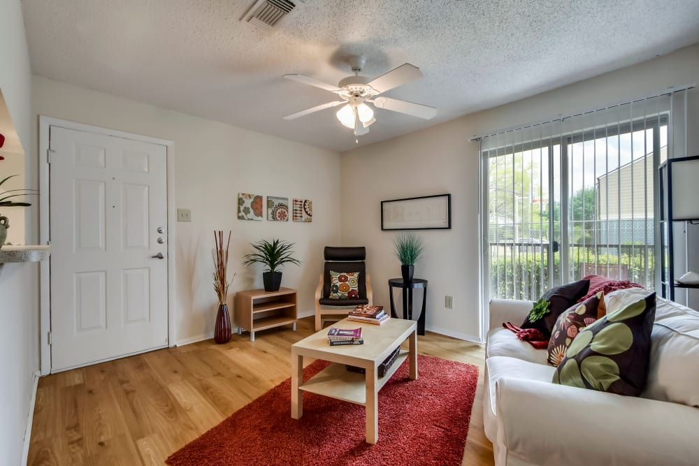 Living room at Nichols Park in Austin, Texas