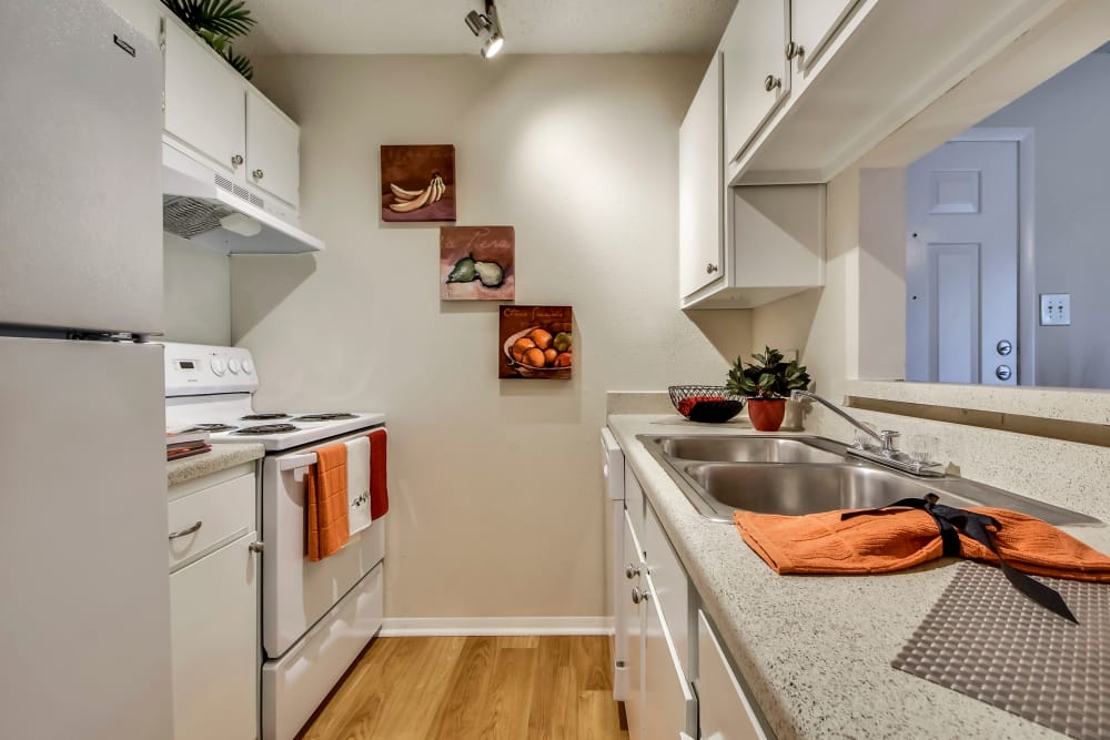 Fully equipped kitchen at Nichols Park in Austin, Texas