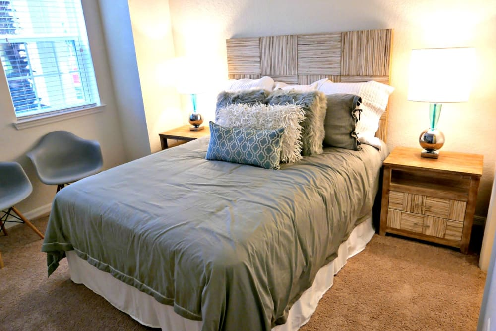 Luxury bedroom at Lola Apartments in Riverview, Florida