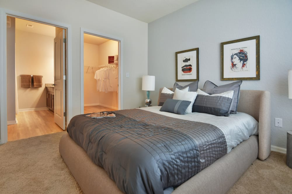 Bedroom at Lola Apartments in Riverview, Florida