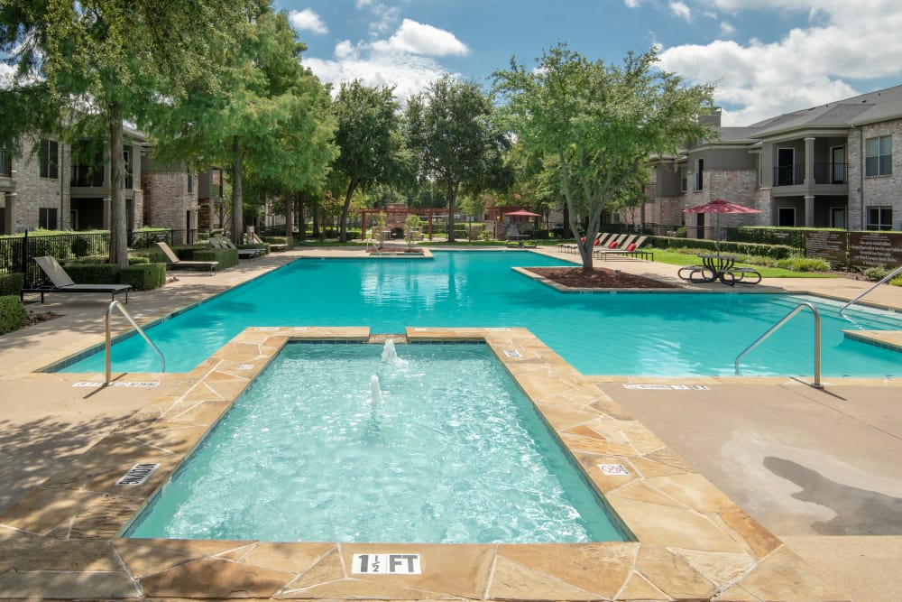Swimming pool at The Springs of Indian Creek in Carrollton, Texas