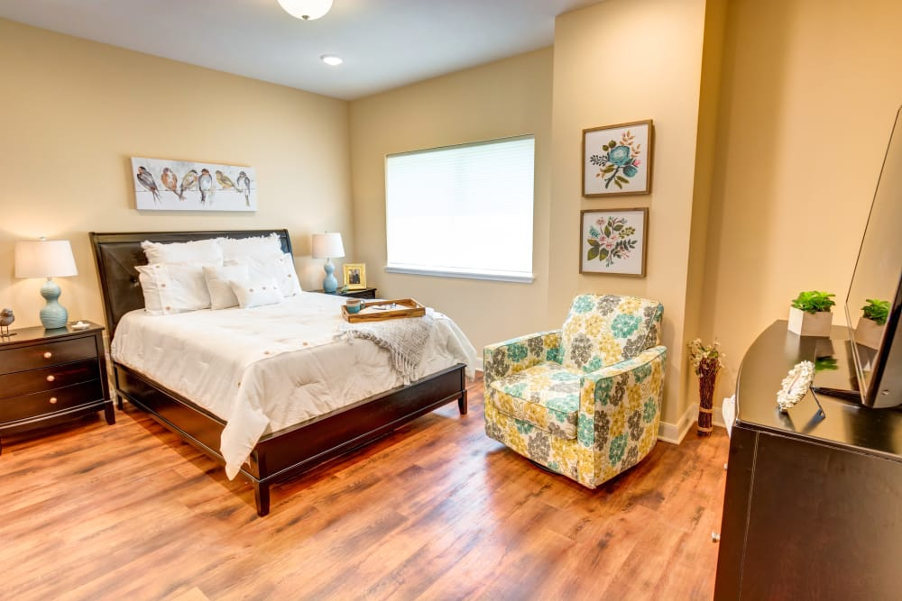 Spacious bedroom at Woodland Heights in Little Rock, Arkansas