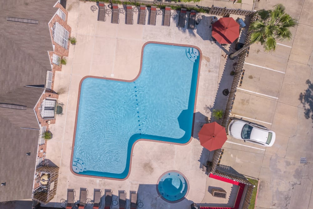 Large pool at The Lexington Apartment Homes in Biloxi, Mississippi