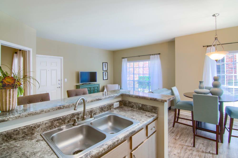 Kitchen at The Lexington Apartment Homes in Biloxi, Mississippi