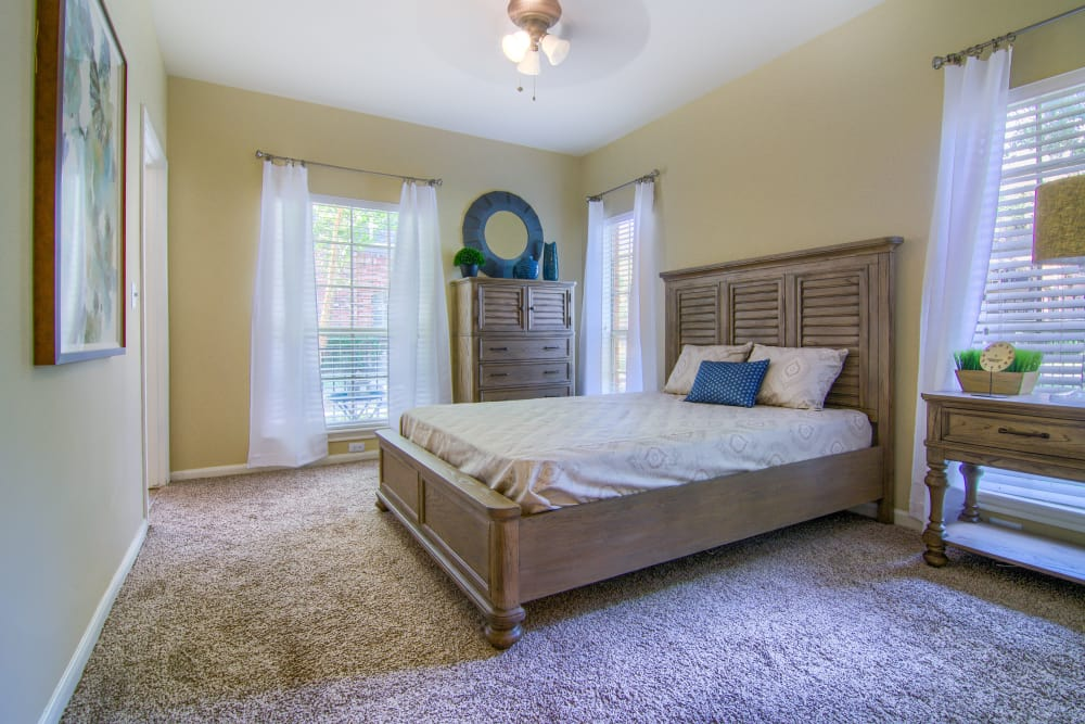 Master bedroom at The Lexington Apartment Homes in Biloxi, Mississippi
