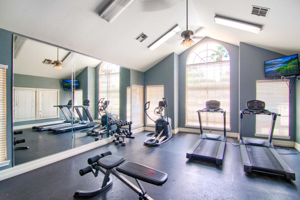 Fitness center at The Lexington Apartment Homes in Biloxi, Mississippi