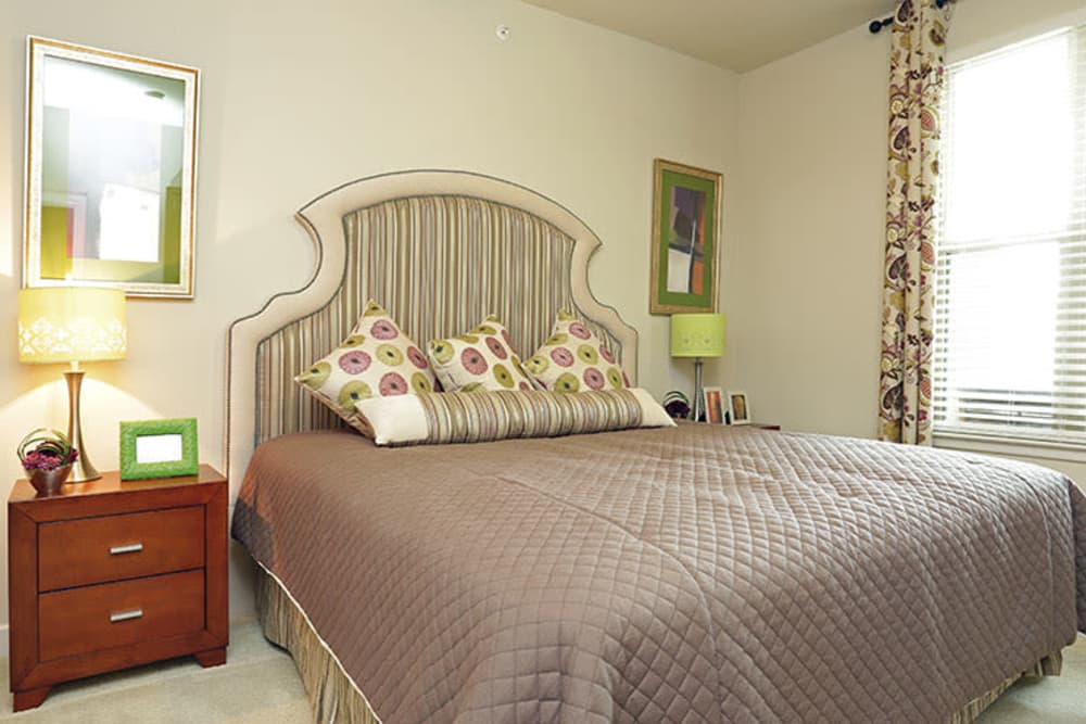 Inviting bedroom at Addison Keller Springs in Addison, Texas