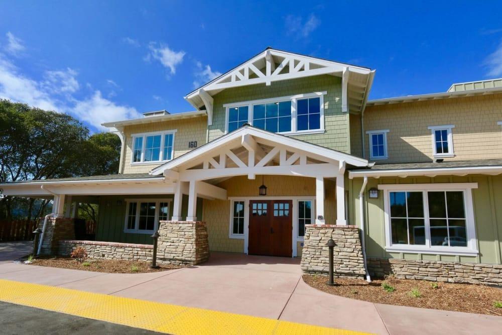 Main entrance at Westwind Memory Care in Santa Cruz, California