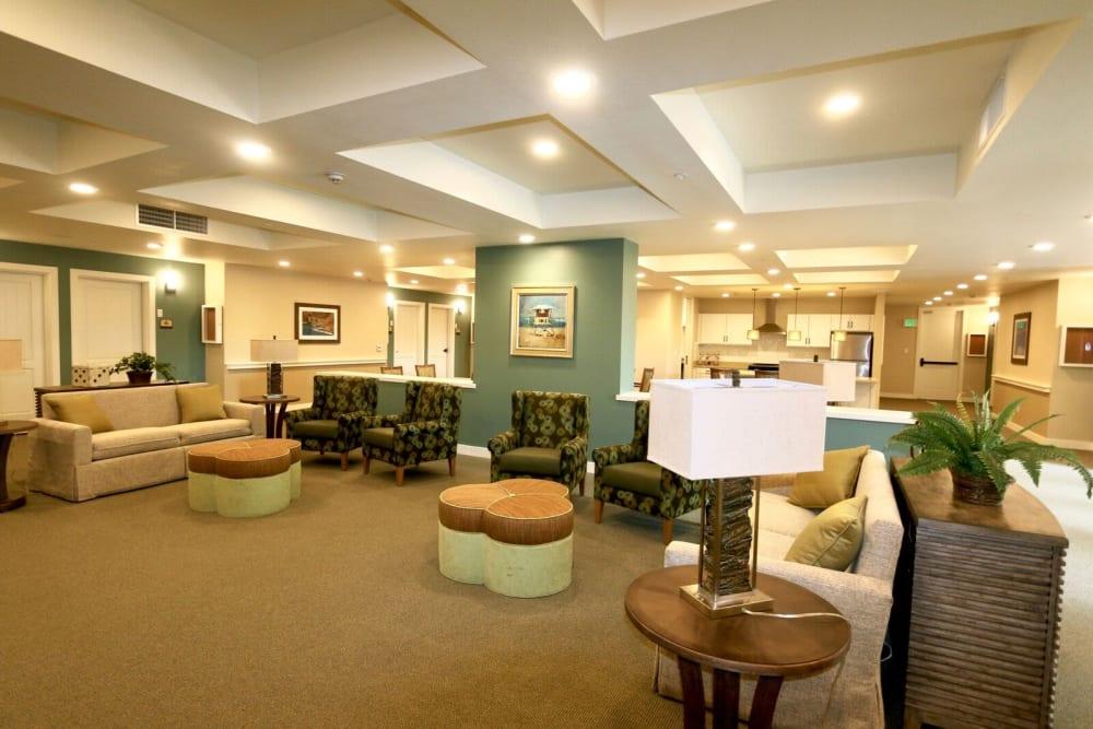Main common area at Westwind Memory Care in Santa Cruz, California