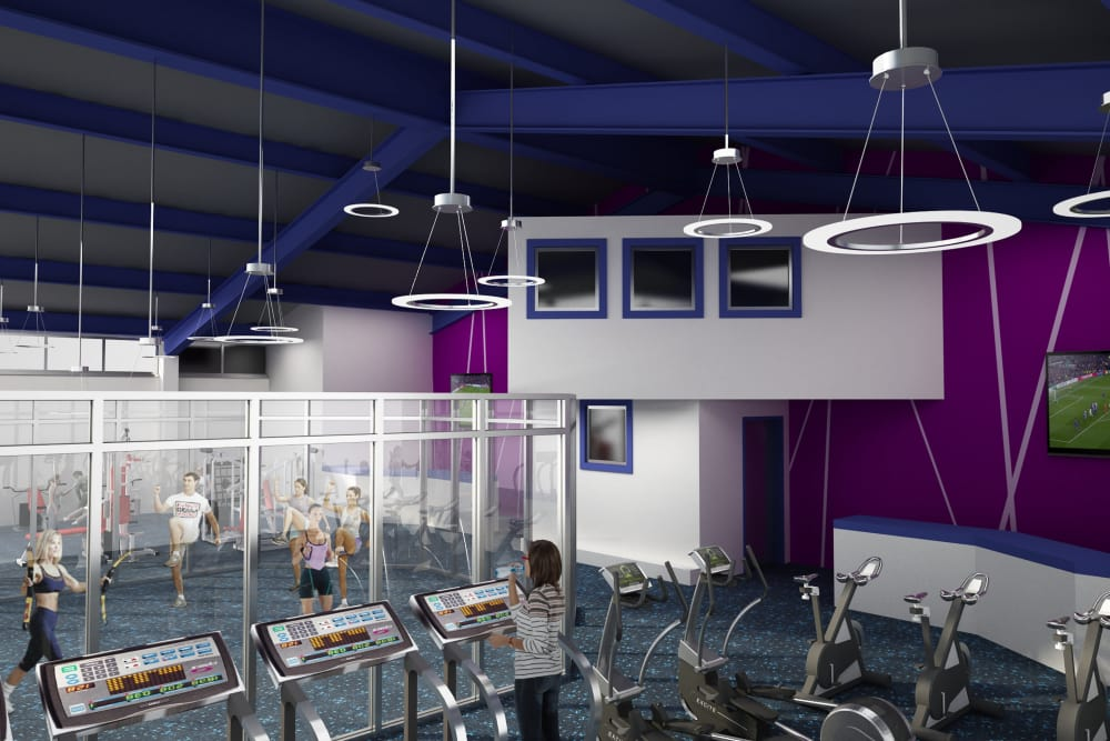 Render of our fitness center at Cove West Hartford in West Hartford, Connecticut