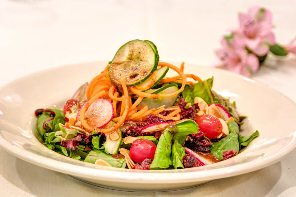 Healthy salad at Symphony at Delray Beach in Delray Beach, Florida.