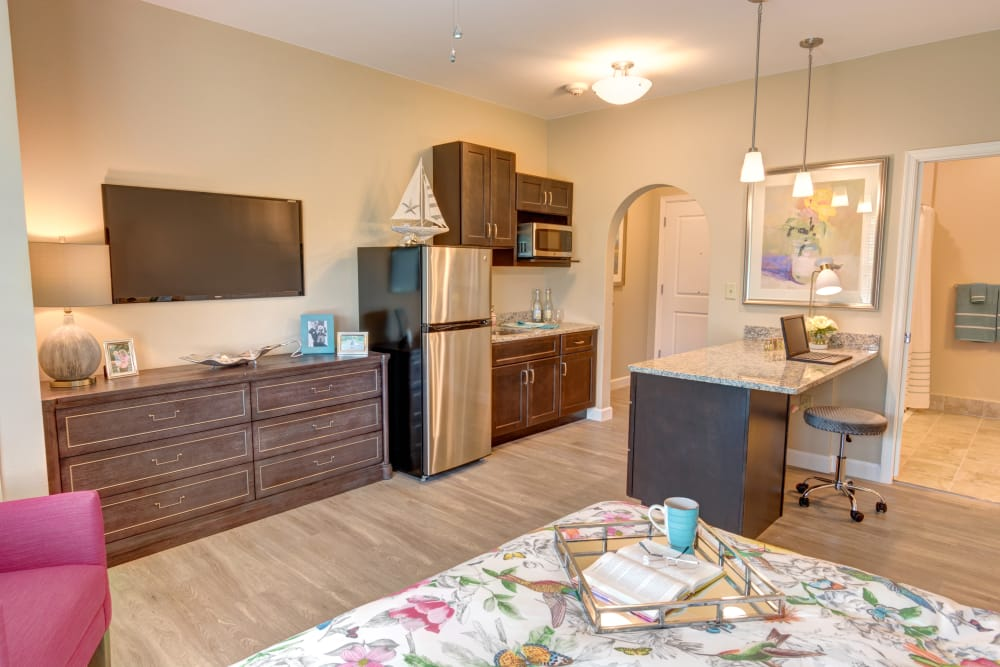 Resident apartment at Symphony at Delray Beach in Delray Beach, Florida.