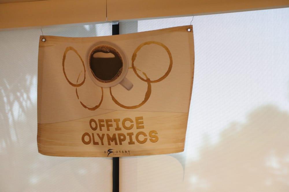 Office Olympics at Discovery Senior Living in Bonita Springs, Florida