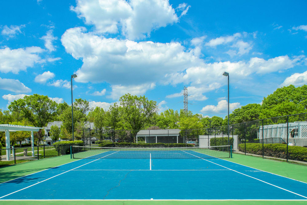 Tennis court at Berkshire Stewards Crossing in Lawrenceville, New Jersey