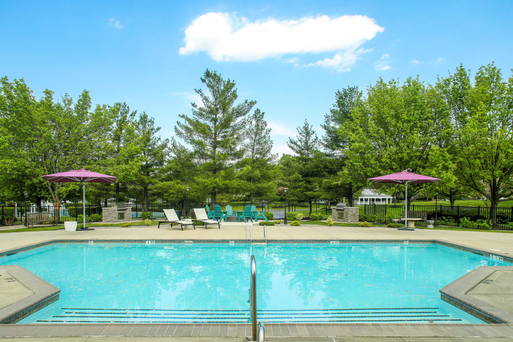 Swimming pool at Steward's Crossing Apartment Homes in Lawrenceville, New Jersey