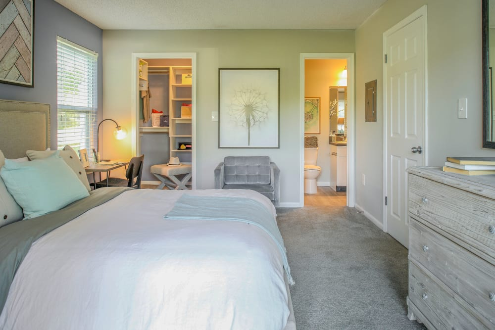 Model bedroom in Lawrenceville, New Jersey at Berkshire Stewards Crossing