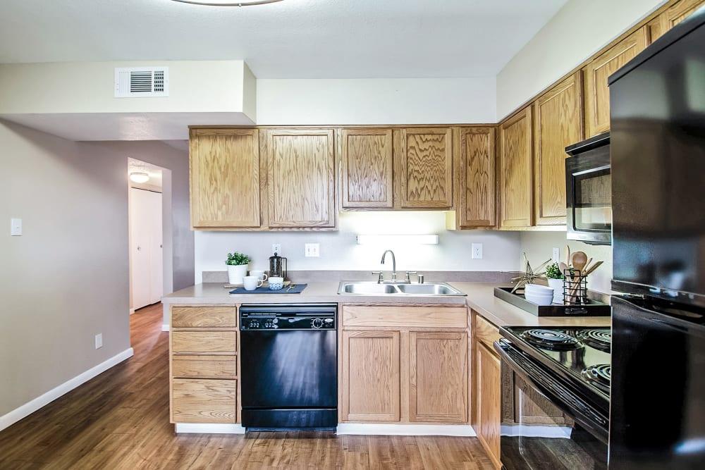 Kitchen at Apartments in Colorado Springs, Colorado