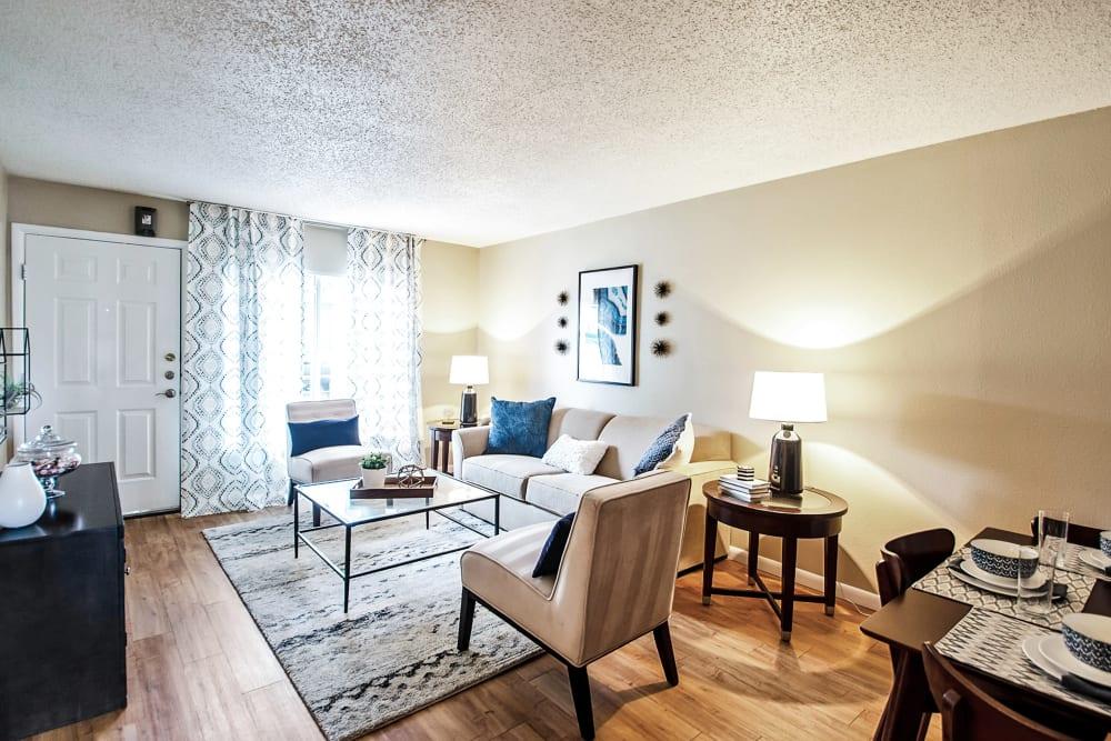 Spacious Living Room at Broadmoor Ridge Apartment Homes in Colorado Springs, Colorado