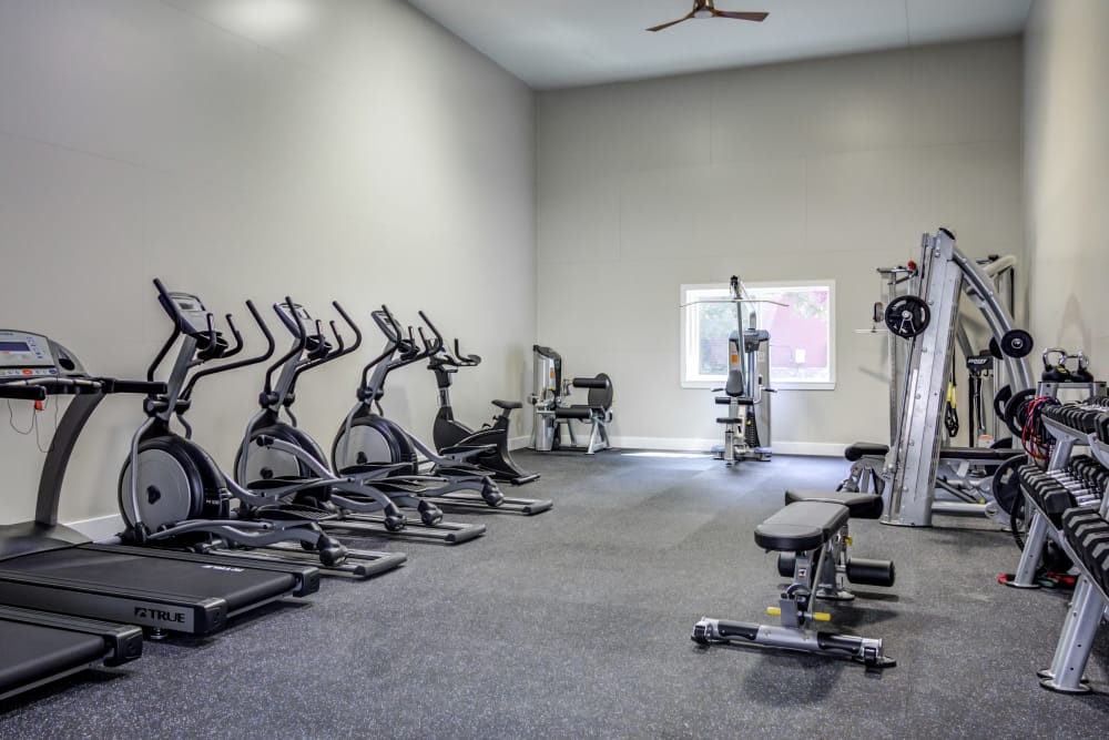State-of-the-art fitness center at apartments in Mill Creek, Washington