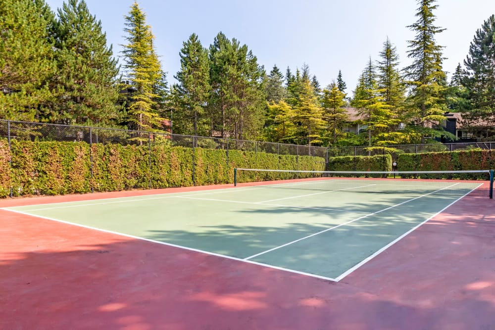 Tennis court at The Mill at Mill Creek Apartments in Mill Creek, Washington