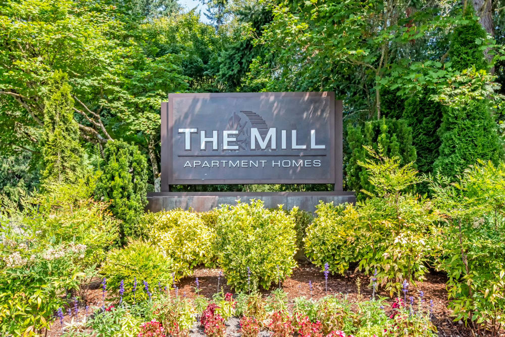 Entryway at The Mill at Mill Creek Apartments in Mill Creek, Washington
