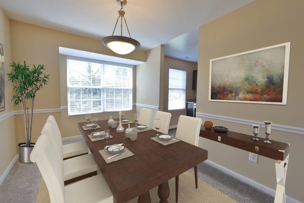 Dining room at Orchard Meadows Apartment Homes in Ellicott City, Maryland