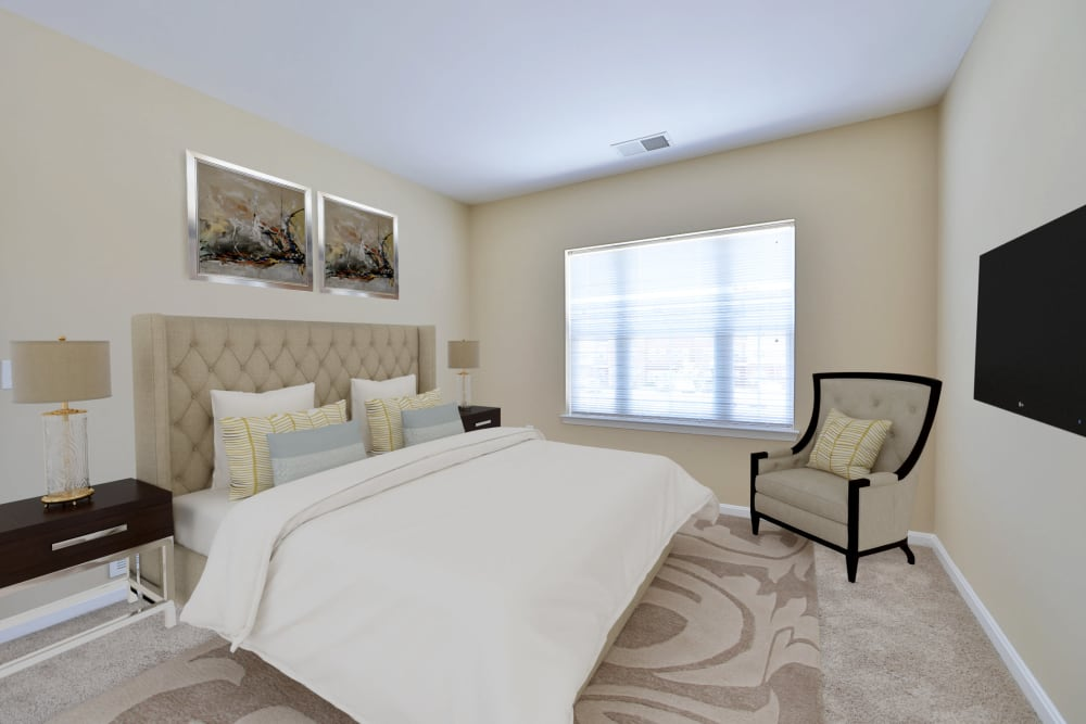 Bedroom at Orchard Meadows Apartment Homes in Ellicott City, Maryland