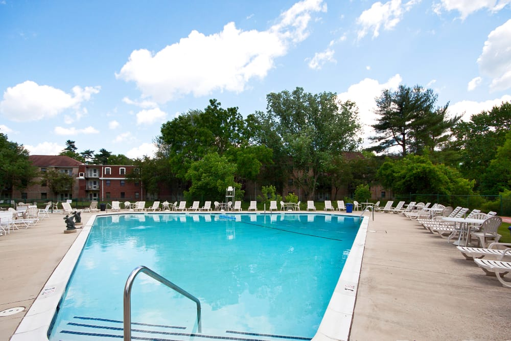 Swimming pool at The Brittany Apartments in Pikesville, Maryland