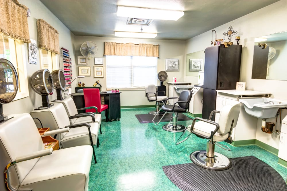 Salon at Brookstone Assisted Living Community in Fayetteville, Arkansas