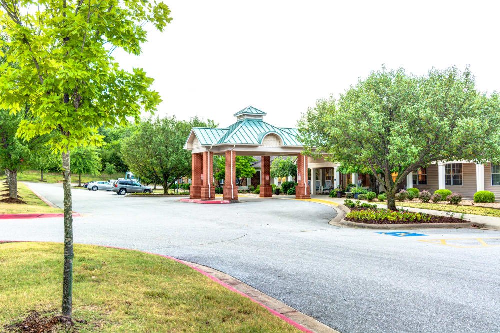 Brookstone Assisted Living Community senior living entrance