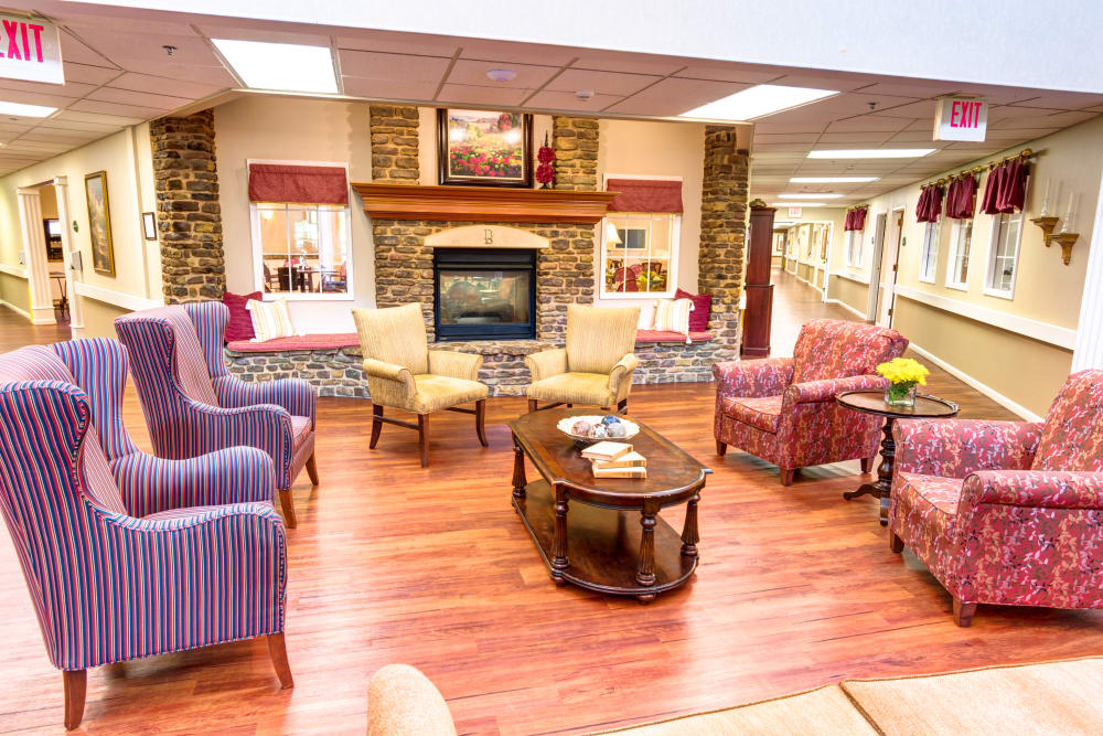 Lobby at Brookstone Assisted Living Community in Fayetteville, Arkansas