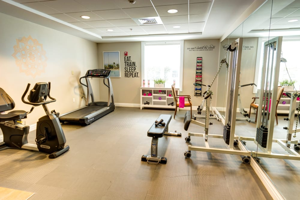 Fitness center for residents at Symphony Manor in Baltimore, Maryland