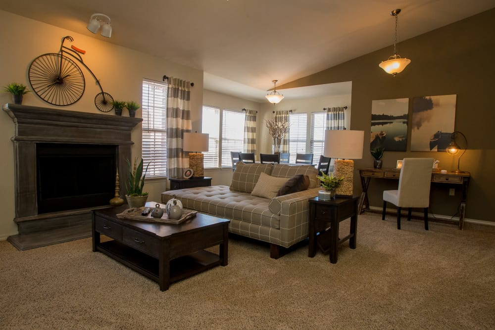 Living area at Villas at Canyon Ranch in Yukon, Oklahoma