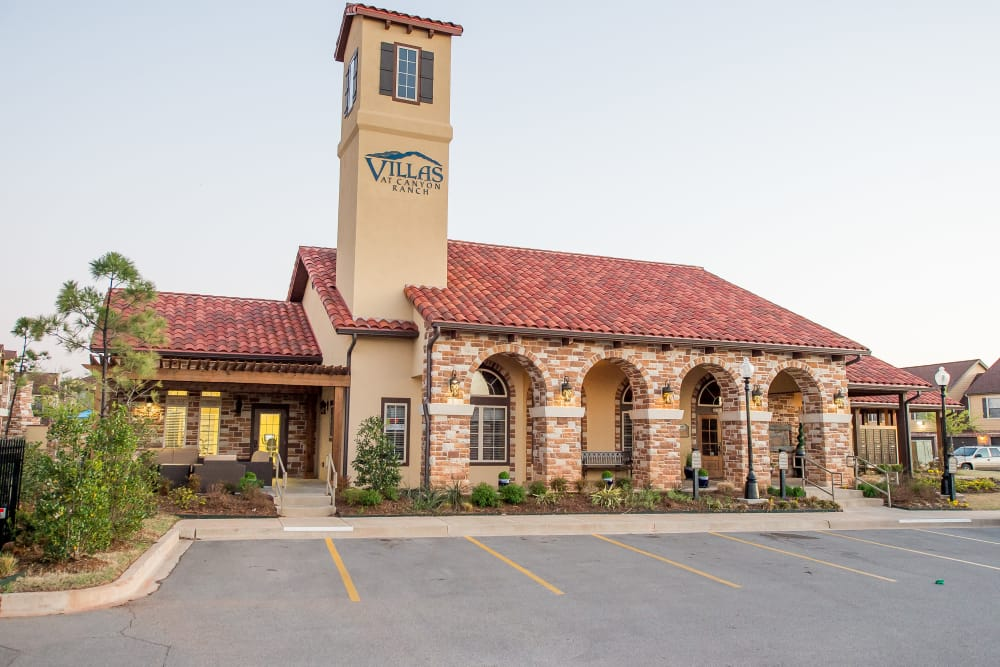 Exterior of the leasing office at Villas at Canyon Ranch in Yukon, Oklahoma