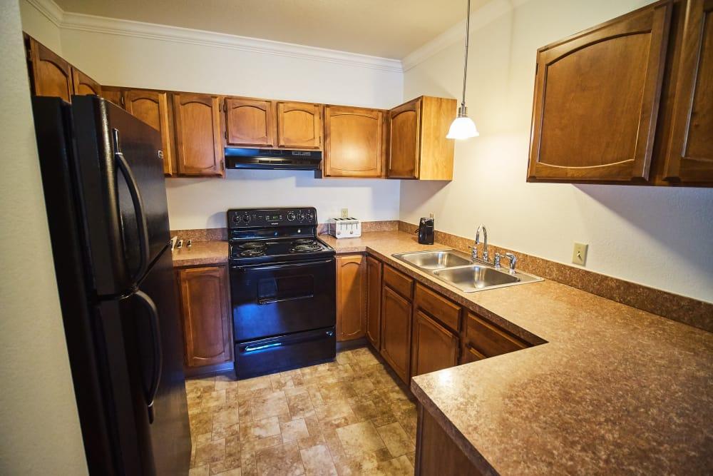 Kitchen at senior living community in North Bend, Oregon