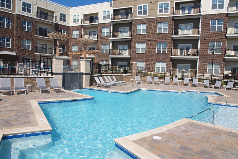 Swimming pool at Element Oakwood in Dayton, Ohio
