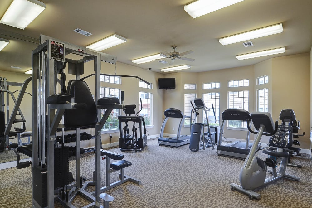 Fitness center at Colonies at Hillside in Amarillo, Texas